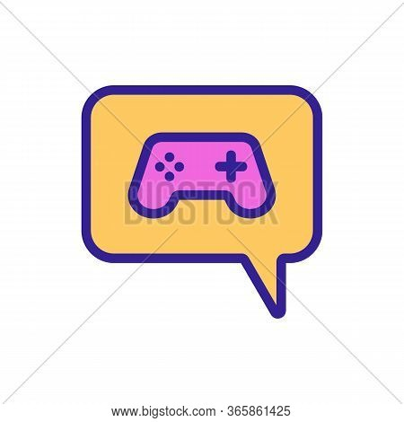 Thought Of Video Game Console And Game Icon Vector. Thought Of Video Game Console And Game Sign. Col