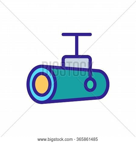 Pendant Halogen Floodlight Icon Vector. Pendant Halogen Floodlight Sign. Color Symbol Illustration