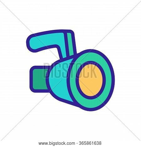 Pendant Buil In Floodlight Icon Vector. Pendant Buil In Floodlight Sign. Color Symbol Illustration
