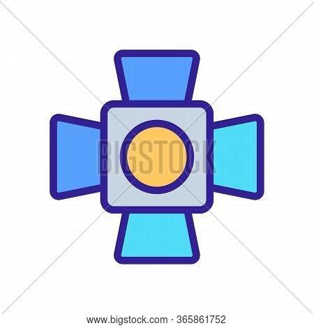 Professional Led Spotlight Icon Vector. Professional Led Spotlight Sign. Color Symbol Illustration
