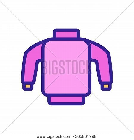 Skier Safety Sweater Icon Vector. Skier Safety Sweater Sign. Color Symbol Illustration