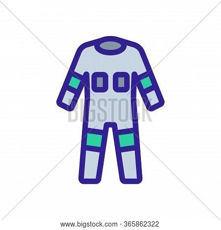 Fully Protective Full Body Suit Icon Vector. Fully Protective Full Body Suit Sign. Color Symbol Illu