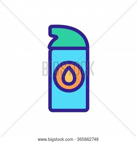 Synthetic Lubricant Small Spray Icon Vector. Synthetic Lubricant Small Spray Sign. Color Symbol Illu