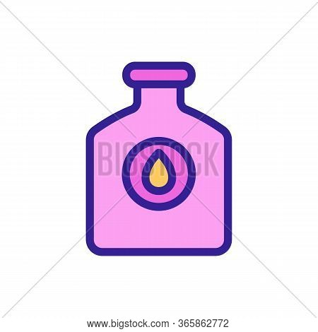 Technical Lubricated Bottle Icon Vector. Technical Lubricated Bottle Sign. Color Symbol Illustration