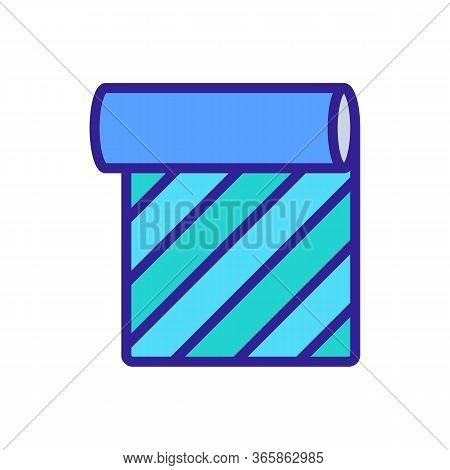 Vertical Horizontal Design Linoleum Icon Vector. Vertical Horizontal Design Linoleum Sign. Color Sym