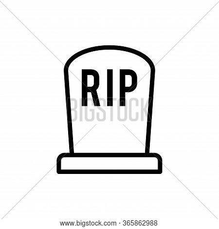 Funeral Gravestone Icon Flat Vector Template Design Trendy