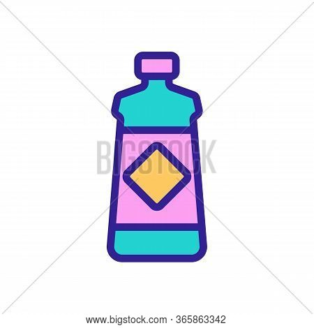 Gel For Washing Dishes Icon Vector. Gel For Washing Dishes Sign. Color Symbol Illustration