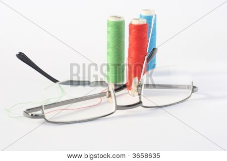 Gläser und thread
