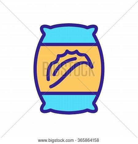 Aloe Vera Pillow Icon Vector. Aloe Vera Pillow Sign. Color Symbol Illustration