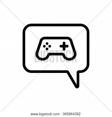 Thought Of Video Game Console And Game Icon Vector. Thought Of Video Game Console And Game Sign. Iso