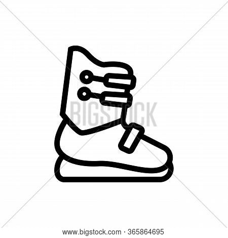 Special Skier Shoes Icon Vector. Special Skier Shoes Sign. Isolated Contour Symbol Illustration