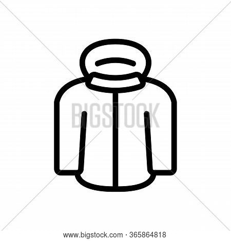 Nsulated Skier Jacket Icon Vector. Nsulated Skier Jacket Sign. Isolated Contour Symbol Illustration