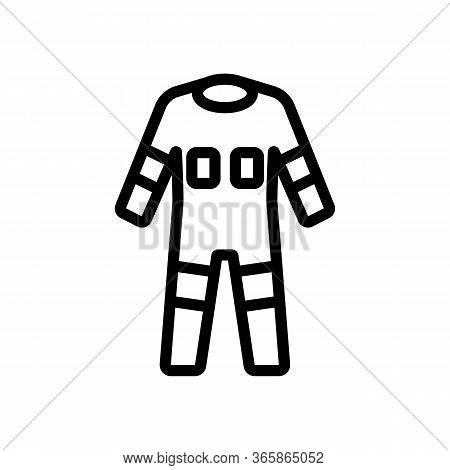 Fully Protective Full Body Suit Icon Vector. Fully Protective Full Body Suit Sign. Isolated Contour