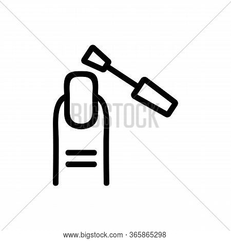 Exfoliating Coarsened Skin Of Nail With Tool Icon Vector. Exfoliating Coarsened Skin Of Nail With To