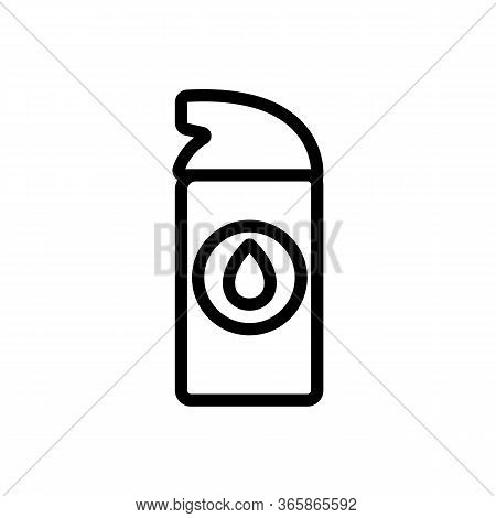 Synthetic Lubricant Small Spray Icon Vector. Synthetic Lubricant Small Spray Sign. Isolated Contour