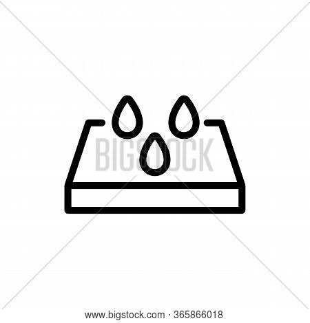 Waterproof Floor Material Icon Vector. Waterproof Floor Material Sign. Isolated Contour Symbol Illus