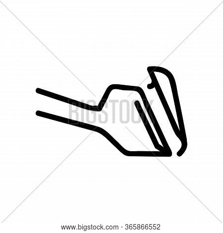 Scrape Away Unnecessary With Blade Icon Vector. Scrape Away Unnecessary With Blade Sign. Isolated Co