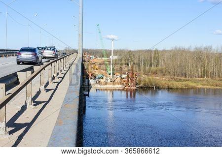 Kirishi, Russia - 8 May, Start Of Construction Of A New Bridge, 8 May, 2020.start Of Construction Of