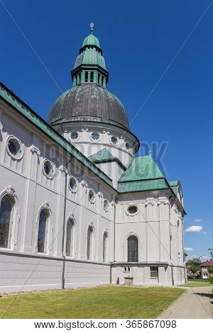 Dome With Copper Roof Of The Emsland Dom Church In Haren, Germany