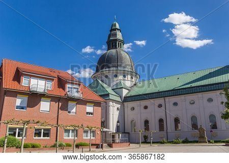 Houses And Dom Church In The Center Of Haren, Germany