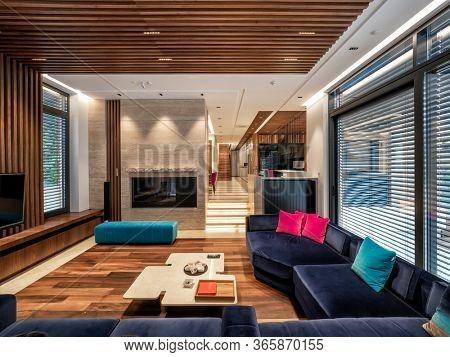 Living room interior design and decoration
