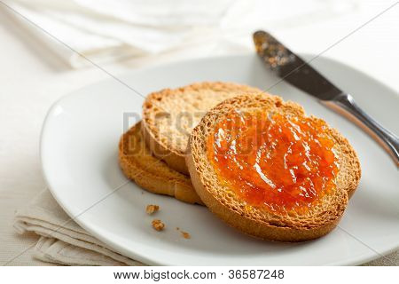 """Fette Biscottate"" (Toasted Bread) with Apricot Jam poster"