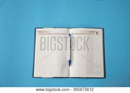 Diary And Calendar For Planner Or Organizer To Plan And Reminder Daily Appointment,  Timetable And M
