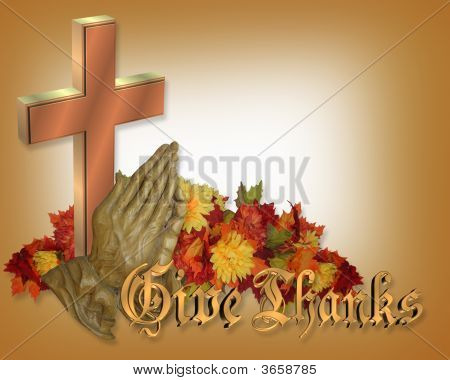 Thanksgiving Praying Hands And Cross
