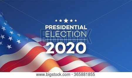 American Presidential Election 2020 Background Design. Vector Illustration Eps10