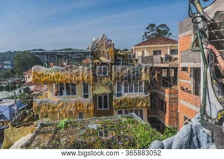 Strange Architecture And Gardens Of Hang Nga Crazy House. Dalat, Vietnam - March 17, 2020