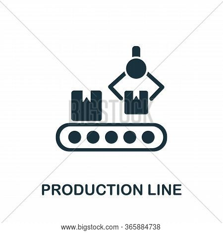 Production Line Icon From Industrial Collection. Simple Line Production Line Icon For Templates, Web