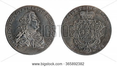 Copy Of The Silver Thaler Of The Ruling Prince Of Schwarzburg-rudolstadt Louis Gunther Ii (also Know