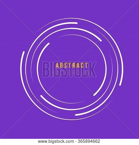 Circle Shaped Radial Speed Lines For Comics, Spiral. Technology Round Logo. Abstract Circle Geometri