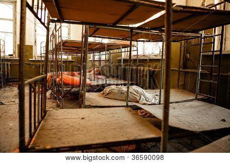 verlassene Kinderzimmer in Tschernobyl