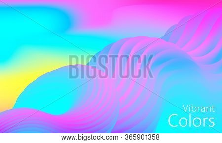 Vibrant Color. Fluid Background. Colorful Design. Futuristic Poster. Abstract Flow. Vibrant Liquid C