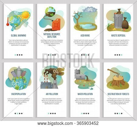 Overpopulation Vector, Global Warming And Waste Disposal, Air Pollution And Deforestation, Forest De