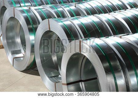 Packed Rolls Of Steel Sheet,stacked Steel Metal-roll