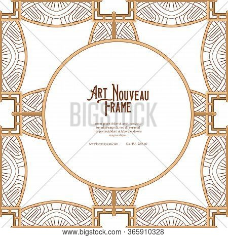 Label, Decorative Frame, Border. Tamplate Good For Product Label With Place For Text. Colored Vector