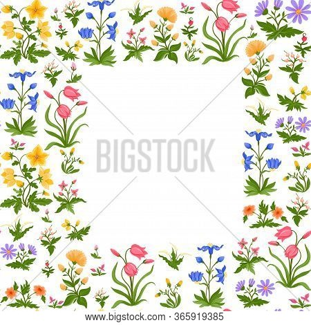 Tradition Mughal Motif, Fantasy Flowers In Retro, Vintage Style. Seamless Pattern, Background. Vecto