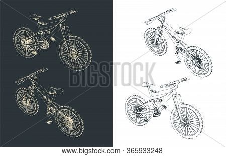 Mountain Bike Illustrations