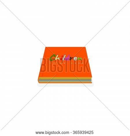 Vector Illustration Of Colorful Children Book. Perfect Template For Children Day, Children Book Day,