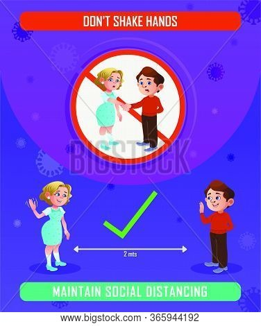Social Distancing Stay At Home, Stay Safe Vector Illustrations, Precaution Of New Coronavirus