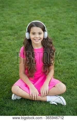 Educational Podcast. Kid Girl Enjoy Music Green Grass Meadow. Pleasant Time. My Summer Playlist. Lis
