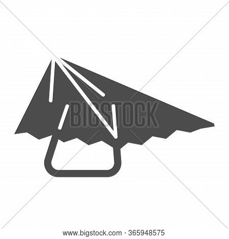 Hang Glider Solid Icon, Extreme Sport Activity Symbol, Paragliding Vector Sign On White Background,