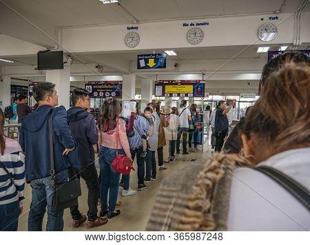 Nongkhai/thailand 4 Dec 2017:unacquainted People In The Nongkhai  Immigration Office Thailand.nongkh
