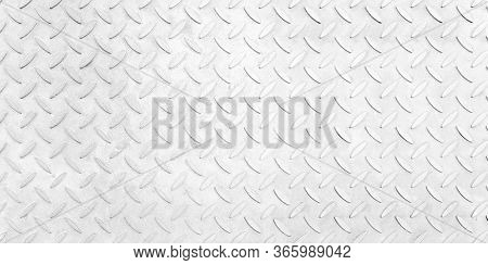 Steel Plate Pattern Manhole Cover Of White Clean Color ,white  Checker Plate Abstract Floor Metal St