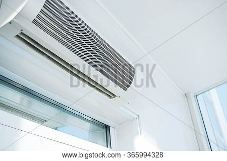 Large Household Air Conditioning In A Bright Room. Device For Adjusting The Indoor Climate. Copy Spa