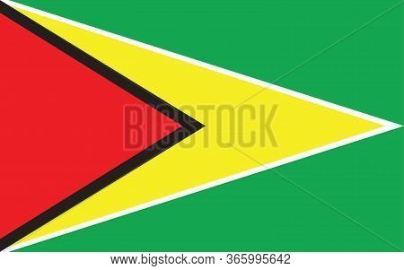 Guyana Flag Vector Graphic. Rectangle Guyanese Flag Illustration. Guyana Country Flag Is A Symbol Of