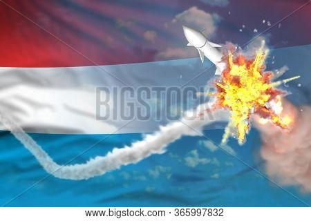 Strategic Rocket Destroyed In Air, Luxembourg Ballistic Missile Protection Concept - Missile Defense