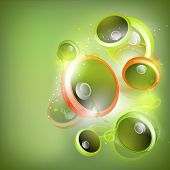 Colorful abstract speakers background. EPS 10. poster
